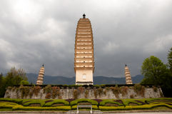 Le tre pagode - Dali - Cina Fotografie Stock Libere da Diritti
