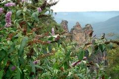 Le tre sorelle da Echo Point, parco nazionale blu delle montagne, NSW, Australia Immagini Stock