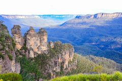 Le tre sorelle nelle montagne blu Fotografia Stock