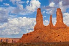Le tre sorelle, valle del monumento Fotografie Stock Libere da Diritti