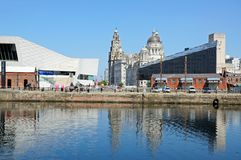 Le tre tolleranze, Liverpool Fotografie Stock Libere da Diritti