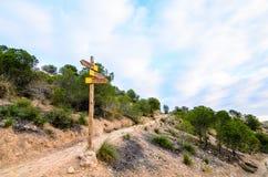 Le trekking conduit le courrier Image libre de droits