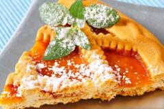 Le trellis a complété la tarte d'abricot image stock