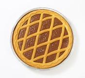 Le trellis a complété la tarte de chocolat photo stock