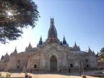 Le tremblement de terre affecté au temple pour être rénovent, Bagan, Myanmar Photos libres de droits