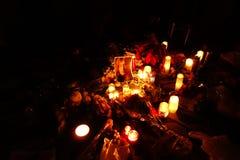 Le trente-quatrième anniversaire de la mort de John Lennon à Strawberry Fields 84 Photographie stock