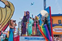 Le trente-sixième défilé annuel de sirène Photo stock
