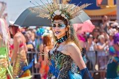 Le trente-sixième défilé annuel de sirène Photos libres de droits