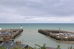 Free Le Treport Harbour, France Royalty Free Stock Photo - 127499175