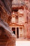 Le Tresury du Siq, PETRA, Jordanie Photo libre de droits