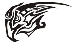 Le tribal a fait une pointe le symbole noir et blanc d'aigle illustration de vecteur