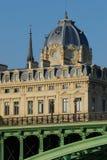 Le tribunal des faillites et le Pont Notre Dame, Paris Images libres de droits