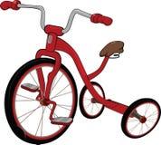 Le tricycle rouge des enfants Image libre de droits
