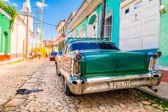 LE TRINIDAD, CUBA - 8 SEPTEMBRE 2015 : Vieil Américain Photos stock