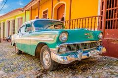 LE TRINIDAD, CUBA - 8 SEPTEMBRE 2015 : Vieil Américain Images stock