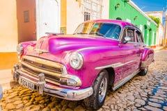 LE TRINIDAD, CUBA - 8 SEPTEMBRE 2015 : Vieil Américain Images libres de droits