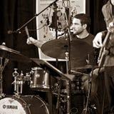 Le trio de Brownman Electryc joue toute la Jazz Festival canadienne dans l'espoir de port, DESSUS - 13 septembre 2015 Image libre de droits