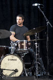 Le trio de Brownman Electryc joue toute la Jazz Festival canadienne dans l'espoir de port, DESSUS - 13 septembre 2015 Image stock