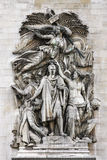 Le Triomphe De 1810, Łuk De Triomphe, Paryż Obrazy Royalty Free