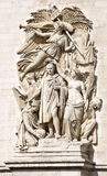Le Triomphe de 1810, Sculptural group at the base of Arc de Triomphe de l'Etoile, Paris, France. Stock Images
