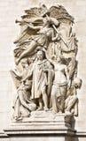 Le Triomphe de 1810, Sculptural group at the base of Arc de Triomphe de l'Etoile, Paris, France. Le Triomphe de 1810, Sculptural group at the base of Arc de Stock Images