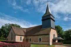 Le Tronquay church in Normandie Royalty Free Stock Photos