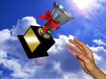 Le trophée de gagnant images stock