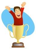 Le trophée du gagnant illustration de vecteur