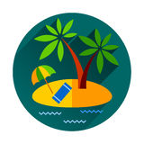 Île tropicale d'océan de vacances de vacances d'été avec Photographie stock libre de droits