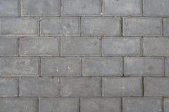 Le trottoir a été pavé avec des tuiles Photographie stock libre de droits