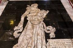 Le trottoir de la cathédrale de Sienne, Sienne, Italie Photographie stock