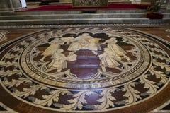 Le trottoir de la cathédrale de Sienne, Sienne, Italie Image stock