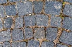 Le trottoir en pierre des blocs image libre de droits