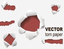 Le trou de papier déchiré de bords a lacéré la page réaliste de grunge de concept d'illustration de vecteur du style 3d de bord e Illustration de Vecteur