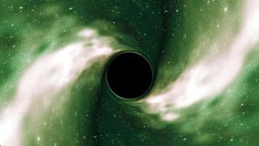 Le trou noir tire en science universelle de boucle de mine d'entonnoir de temps d'espace d'étoile de nébuleuse d'animation qualit