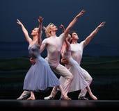 Le troupe ceche di balletto del teatro nazionale Fotografia Stock Libera da Diritti