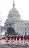 Le truppe coloniali sfilano agli Stati Uniti Campidoglio Immagini Stock Libere da Diritti