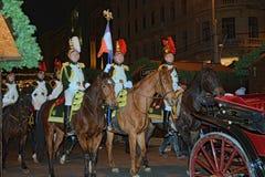 Le truppe del millefoglie di parata a Brno Immagini Stock Libere da Diritti