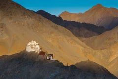 Le Tsemo Gompa dans Leh, Ladakh Images libres de droits