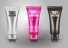Le tube en plastique pour le cosmétique écrème images stock