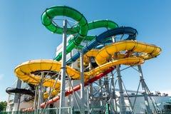 Le tube glisse au parc aquatique Photographie stock libre de droits