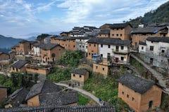 Le tulou de Yangchan dans la province d'Anhui en Chine image stock