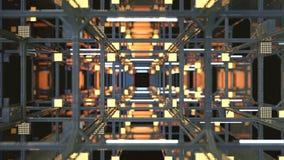 Le tunnel avec la construction 3D en métal rendent Illustration de Vecteur