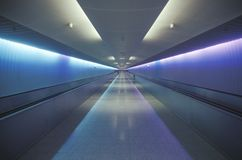 Le tunnel d'United Airlines Chicago, l'Illinois Images libres de droits