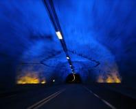 Le tunnel de Laerdal Image libre de droits
