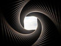 Le tunnel de remous a fini la vue de ciel Photo libre de droits