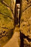 Le tunnel du mur occidental Photographie stock libre de droits