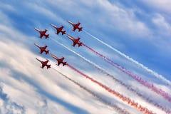 Le turc tient le premier rôle l'équipe acrobatique aérienne Image stock