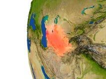 Le Turkménistan sur le globe illustration stock