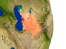 Le Turkménistan sur terre illustration libre de droits